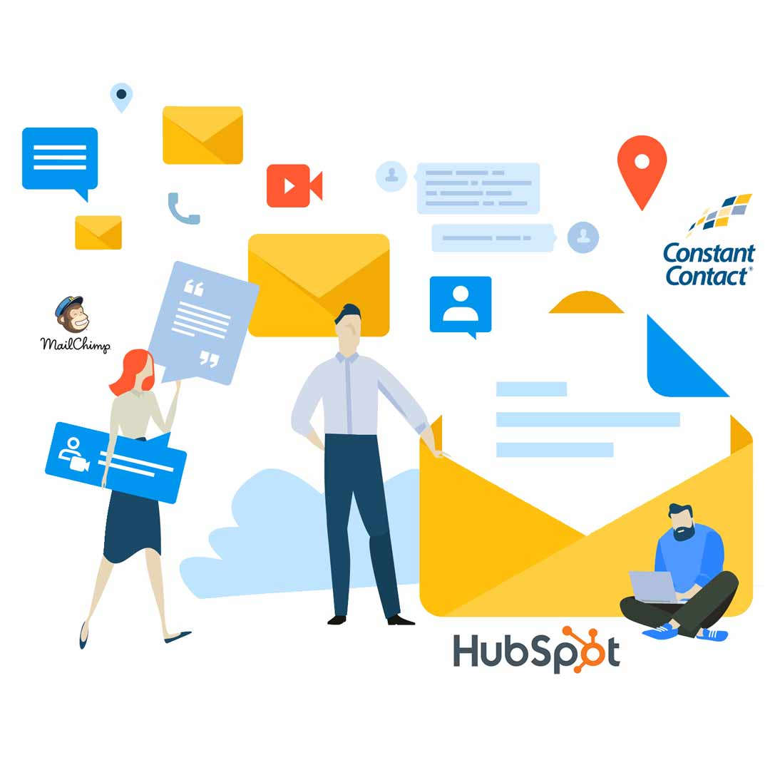 Isometric graphic representing our work in email marketing
